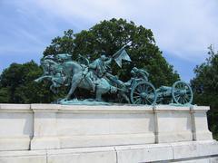 Sculpture of rangers in Washington DC (USA) Stock Photos