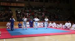 Judo Demonstration Modern Japanese Martial Arts Takedowns Stock Footage