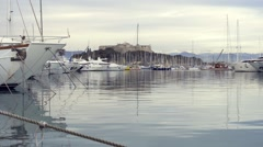 Port Vauban, Antibes Stock Footage
