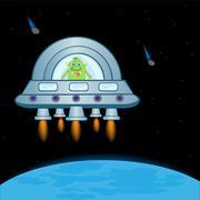 Extraterrestrial spaceship Stock Illustration