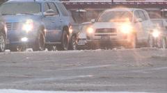 Freezing rain coats everything in ice - stock footage