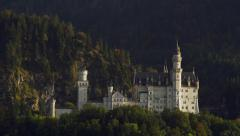 Neuschwanstein Castle in Schwangau, Germany Alps 4K Stock Video Footage Stock Footage