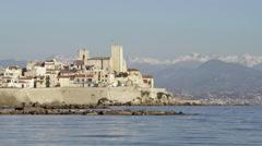 Antibes, France establishing shot Stock Footage