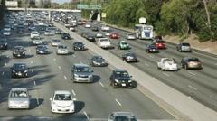 4K, UHD, Freeway traffic jam in Los Angeles, California, BlackMagic 4K Camera Stock Footage