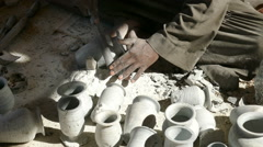 Stock Video Footage of hands of a master, making the ceramic jug
