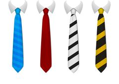 Colored tie Stock Illustration