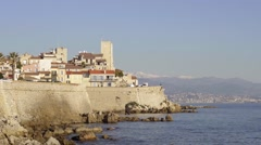 Antibes, France establishing shot Stock Footage
