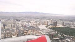 4K Plane Taking Off Las Vegas Airport Stock Footage