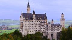 Neuschwanstein Castle Schwangau, Germany Alps 4K Stock Video Footage Stock Footage