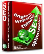 box seo red arrow - search engine optimization web - stock illustration
