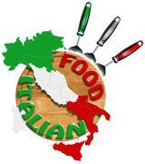 Italian food Stock Illustration