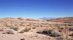 4K Valley of Fire State Park Driving Landscape Stock Footage