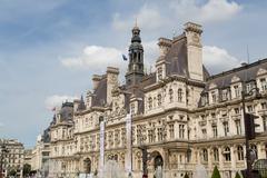 hotel de ville paris - stock photo