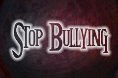 stop bullying concept - stock illustration