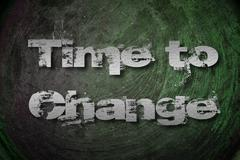 Time to change concept Stock Illustration