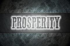 prosperity concept - stock illustration
