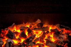 Live coals Stock Photos