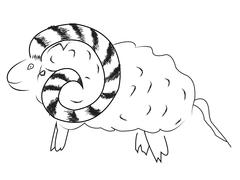 Ram stencil Stock Illustration