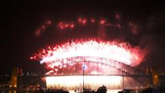 Nye fireworks sydney-4K Stock Footage