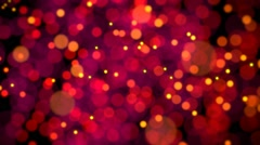 Defocused particles random motion red/yellow Stock Footage