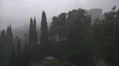 Rainfall in Crimea Stock Footage