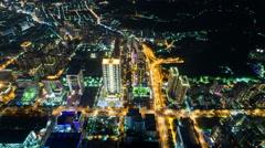 1080 - City Skyline Timelapse, Taipei at Night Taiwan Stock Footage