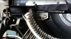 Old Typewriter On The Table in 4K quality. Stock Footage