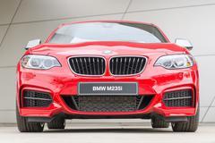 Bmw m235i coupe performance series turbo mainstream sports car Stock Photos