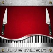 Live music and food menu Stock Illustration
