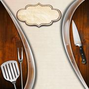 rustic and modern menu template - stock illustration