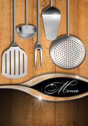 Rustic and modern menu template Stock Illustration