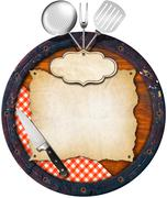 rustic menu background - stock illustration