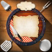 Rustic menu background Stock Illustration