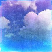 Retro cloudy sky background Stock Illustration