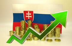currency appreciation - Slovak economy - stock illustration