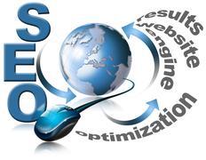 Seo - search engine optimization web Stock Illustration