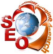 seo red arrow - search engine optimization web - stock illustration