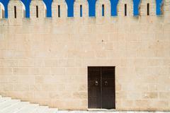 Medina wall with door Stock Photos