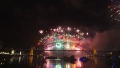 Nye fireworks sydney-60p Stock Footage