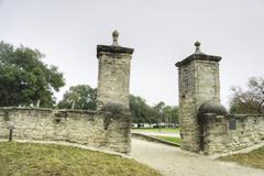 Gate in St. Augustine - stock photo