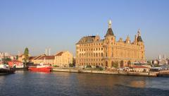 Today was the last day of Haydarpasa train station - stock footage