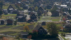Shirakawago, Traditional Village in Gifu, Japan Stock Footage