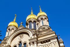 Russian orthodox chapel wiesbaden, germany Stock Photos