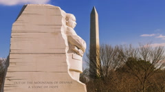 Time-lapse of the Martin Luther King, Jr. Memorial (1080) - stock footage