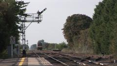 Train and Semaphore Signals Stock Footage