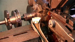 The movement of the drive shaft and a lathe for the production of watches Stock Footage