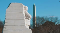 The Martin Luther King, Jr. Memorial - stock footage