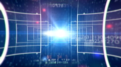 Abstract technology digital background 3 Stock Footage