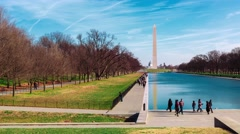 Timelaspe of the the Washington Monument  (4K) Stock Footage
