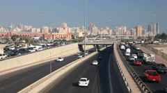 Stock Video Footage of Traffic in Kuwait City